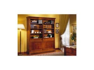 Picture of Classic bookcase with doors, classic style bookcases