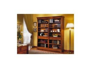 Picture of Classic bookcase with two drawers, hand worked bookcase