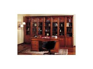 Picture of Classical manager office - bookcase, wooden bookcases