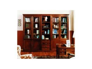 Picture of Classical modular bookcase, hand decorated bookcase