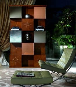Picture of MB41 Mondrian, hand decorated bookcase