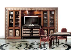 Paradise C/517, Library of classic luxury, for residential environments