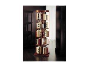 Picture of Swivel classical bookcase, hand decorated bookcases