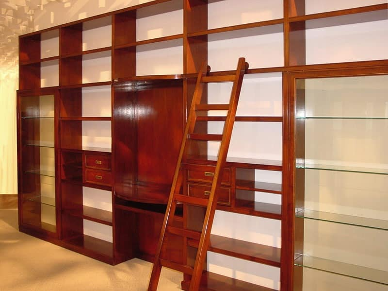 Elegant bookcases Luxury hotel Telaro PC352