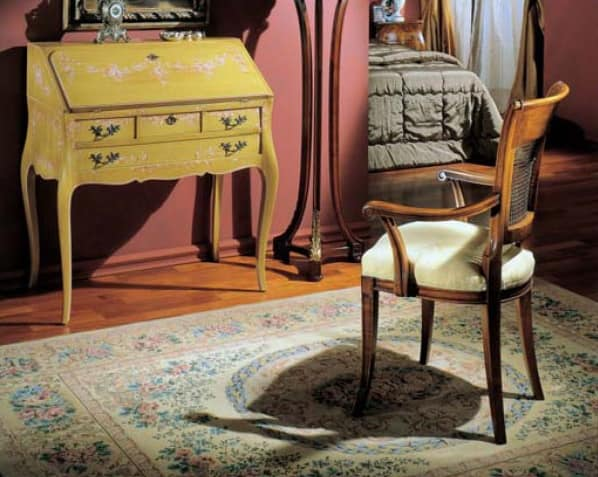 3255 ARMCHAIR, Luxury classic armchair with cane back