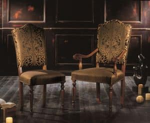 Picture of 3528-3529, carved-wooden-chairs-with-arms