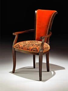 Picture of Art. 1309/A, carved wood chairs