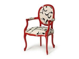 Picture of Art.418 armchair, padded chair with arms