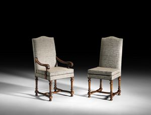Art. 97/A chair with armrests, Chair from the Emilian style of the XVIII century
