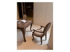 Picture of Basilia, chair with arms in wood