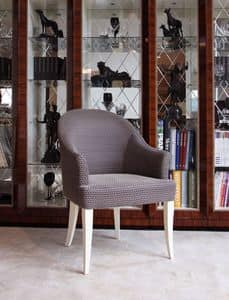 Picture of Dolce Vita Chair with armrests, classic style chair