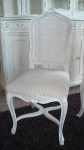 3310 CHAIR LUIGI XV, Chair with cane backrest, Louis XV