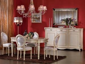 3440 CHAIR, Medallion chair, lacquered finishes, for dining room