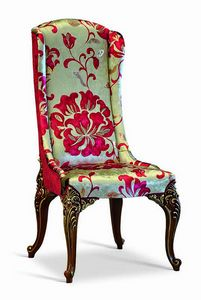 4643/S1, Padded dining chair, classic style