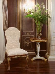 Art.1056, Chair upholstered in silk velvet, ultra-luxury