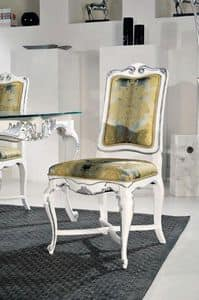 Art. 505s, Classic chair with structure decorated in silver leaf