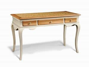 Art. 713, Wooden desk, with sinuous legs, for office