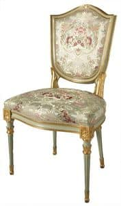 CHAIR ART. SD 0004, Padded chair in Venetian style, gilded and lacquered