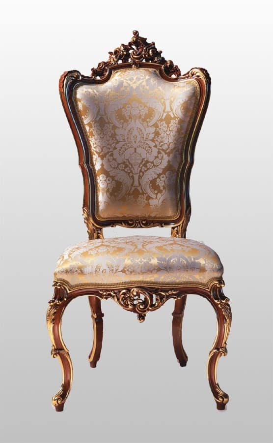Carved Armchair With Padded Seat And Backrest Idfdesign