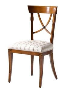Fontainebleau VS.1237, Chair in cherry with upholstered seat, ideal for living rooms in classic luxury style