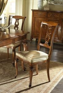 G 601, Carved and classic chair, with padded seat