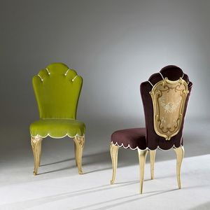 Palazzo PL213, Elegant dining chair with carved legs