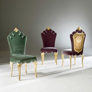 Palazzo PL214, Classical chair, with inlayed outside backrest
