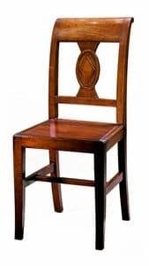 Piombino ME.0961.L, Chair made entirely of wood, in classic style