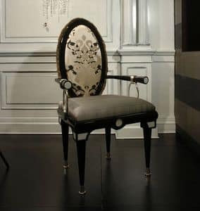 Picture of Sedia con Braccioli Misor, head of the table chairs