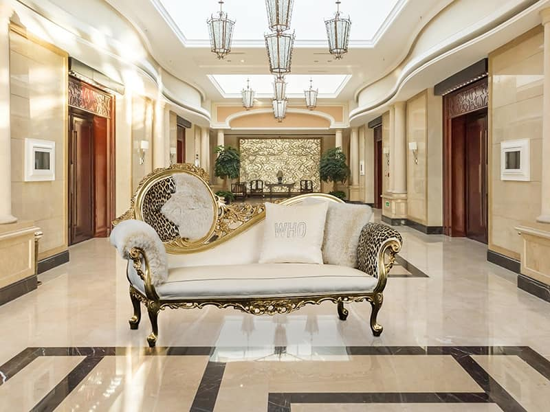 Rococo Style Chaise Longue Ideal For Luxury Hotel Idfdesign