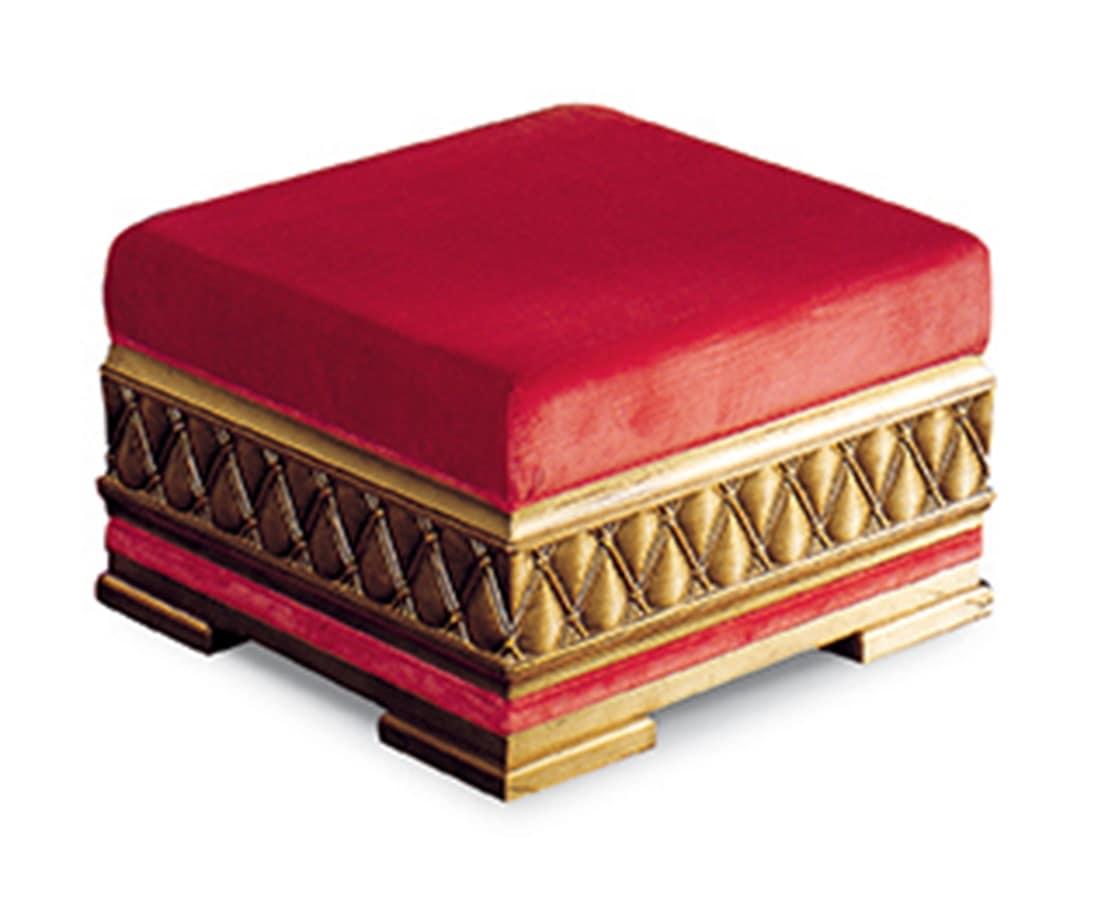 art 1071v2 o classic pouf capitonn padded pouf. Black Bedroom Furniture Sets. Home Design Ideas