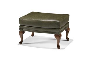 1762/O, Pouf upholstered in leather