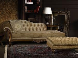 Picture of ATENA pouff 8556O, carved chaise longue