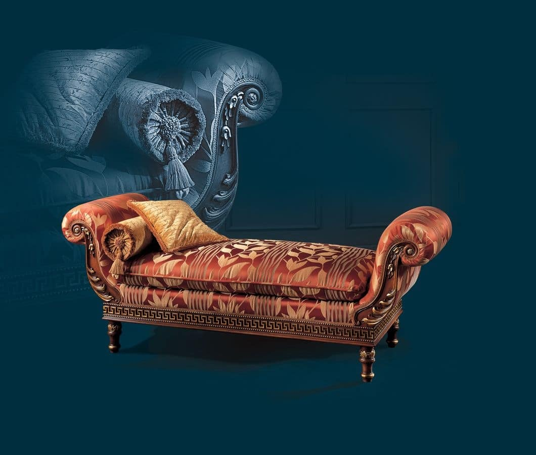 Classical luxury daybed idfdesign for Chaise longue classic design italia