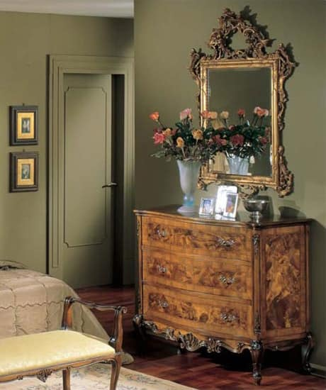 3265 CHEST OF DRAWERS, Wooden chests with 3 drawers, luxury classic style