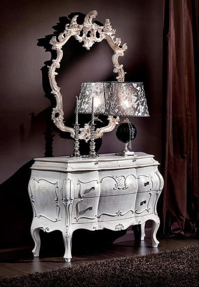 3445 CHEST OF DRAWERS, Baroque carved dresser for historic villa