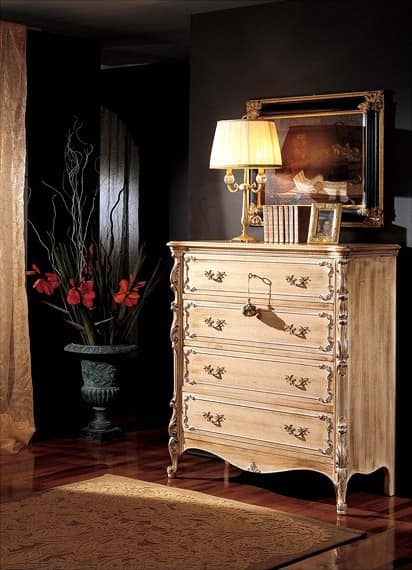 3370 CHEST OF DRAWERS, Chest of 5 drawers, '800 style, for classic rooms