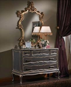 Picture of 3465 CHEST OF DRAWERS, wooden sideboard with antique finish