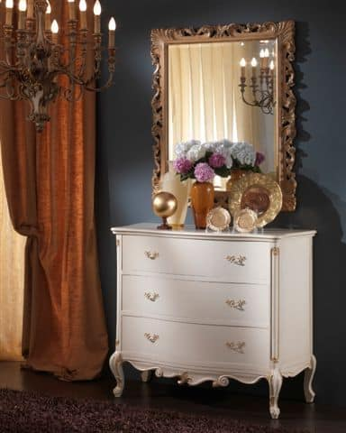 3515 COMO', White chest of drawers suited for classic bedrooms