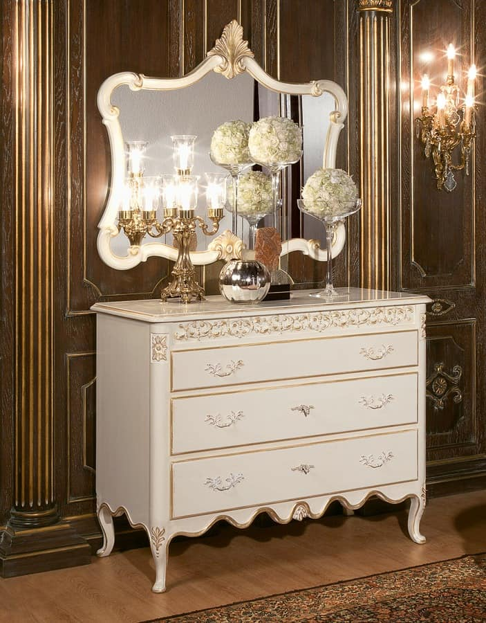 Art. 1064, Baroque chest of drawers, dresser hotel, classic chest of drawers