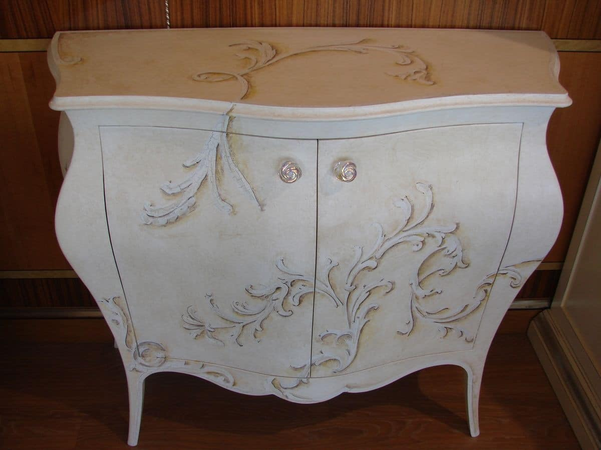 Art. 310, Classic chest of drawers for your home, lacquered chest of drawers 2 doors to the bedroom