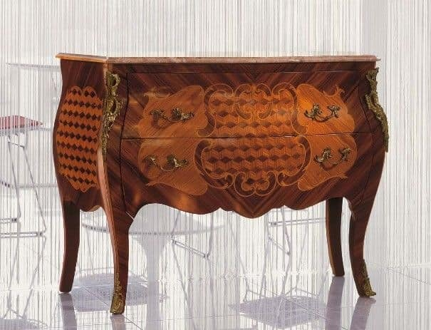 Art. 338, Classic chest of drawers for bedroom, inlaid chest of drawers for bedroom