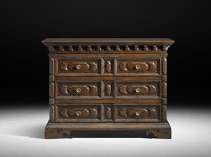 Art. 667 chest of drawers, Faithful copy of hest of drawers, from the seventeenth century