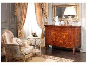 Picture of Art. 791 chest of drawers, hand decorated sideboard