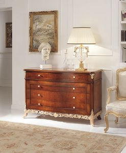 Art. 800/D, Classic chest with drawers, with inlays