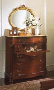 Canova flap, Chest of drawers with flap, top in Royal Yellow marble