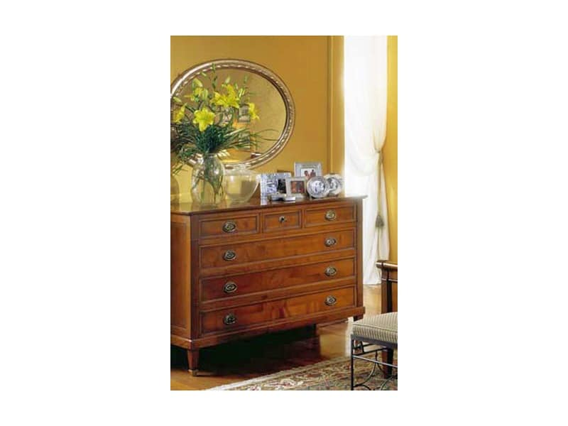 Classical chest of drawers Direttorio, Solid wood sideboard Entrance