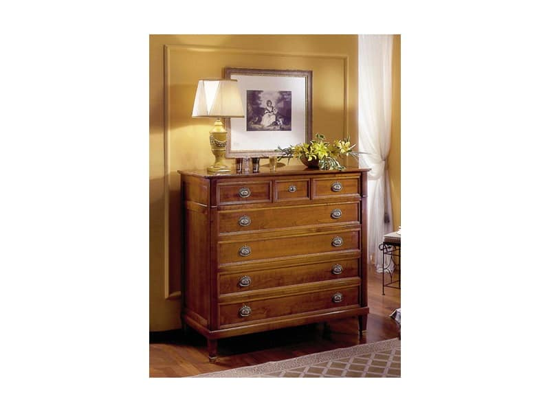Classical chest of drawers Direttorio D647, Wooden sideboard Luxury classic bedroom