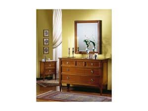 Picture of Classical chest of drawers Victor, classic style unit with drawers
