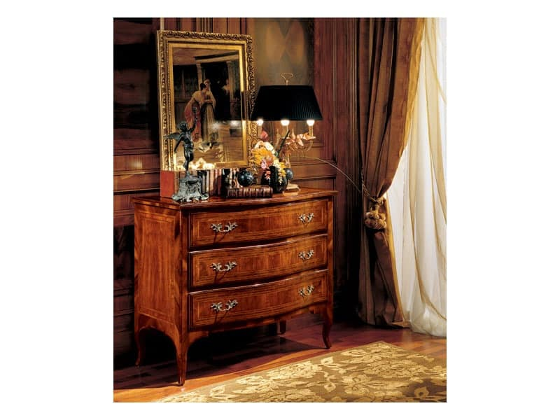 Gardenia chest of drawers 822, Luxury classic chest of drawers for bedroom